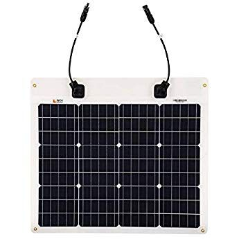 Richsolar 50 Watt 12 Volt Extremely Etfe Flexible Monocrystalline Solar Panel Ultra Lightweight Flexible Solar Panels Rv Solar Panels Solar Panels