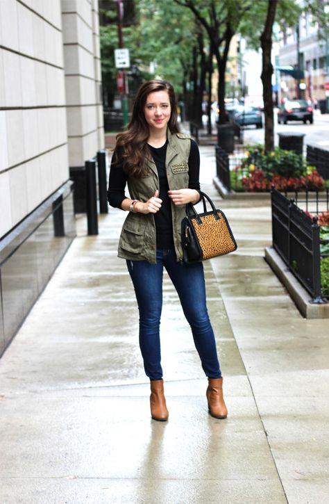 Little Black Blog | Chicago Fashion and Beauty Blog: OOTD: Embellished Anorak Vest
