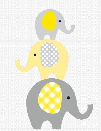 Wunderliche Gestapelte Elefanten Druckbare Gelb Susan