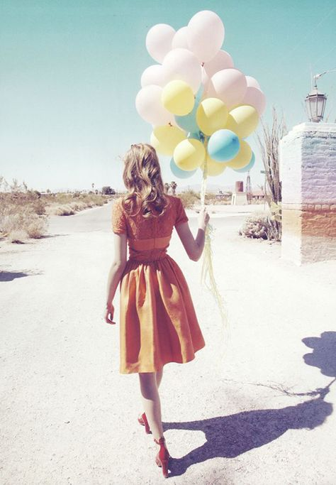 Full skirt and a bunch of balloons!