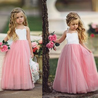 Petals Flower Girl Princess Dress Kid Formal Party Wedding Bridesmaid Gown Dress
