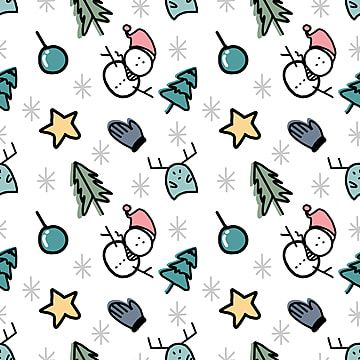 Christmas Doodle Seamless Pattern With Theme Doodle Clipart Background Pattern Png And Vector With Transparent Background For Free Download Christmas Doodles Doodles Seamless Patterns