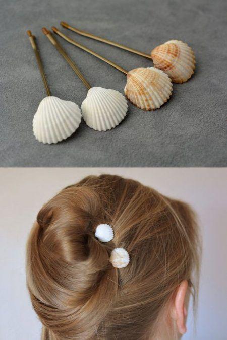16 Manualidades Utilizando Conchas De Mar La Cartera Rota Artesanía Con Conchas Peinados Hechos Por Ti Mismo Accesorios Para Cabello De Niñas