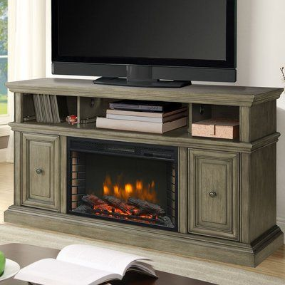 Whittier Tv Stand For Tvs Up To 60 Inches With Electric Fireplace Included Fireplace Tv Stand Media Electric Fireplace Electric Fireplace Tv Stand