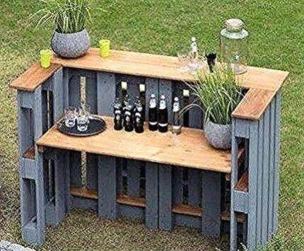Modelle Bars Garten Holz Paletten Kreationen Bars Aus Holz Ideen Aus Recycli Paletten Garten Gartenbar Paletten Ideen Garten
