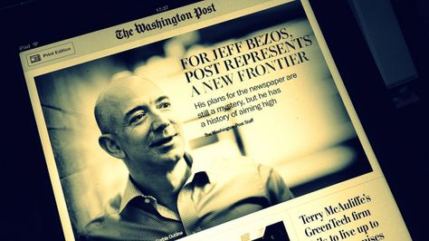 Jeff Bezos et la leçon d'Amazon ou bien l'information en tant que lecteur   Le récent achat pour 250 millions de dollars du Washington Post, le plus diffus et plus ancien journal de Washington, de la part du fondateur d'Amazon, Jeff P. Bezos, a été une des nouvelles de cet été. Lire la suite...