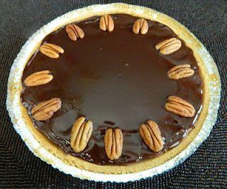 Chocolate glazed turtle pie