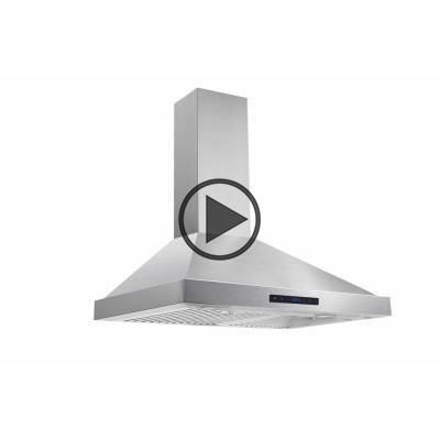 Vissani 30 In W Convertible Wall Mount Range Hood With 2 Charcoal Filters In Stainless Steel Wall Mount Range Hood Range Hood Charcoal Filter