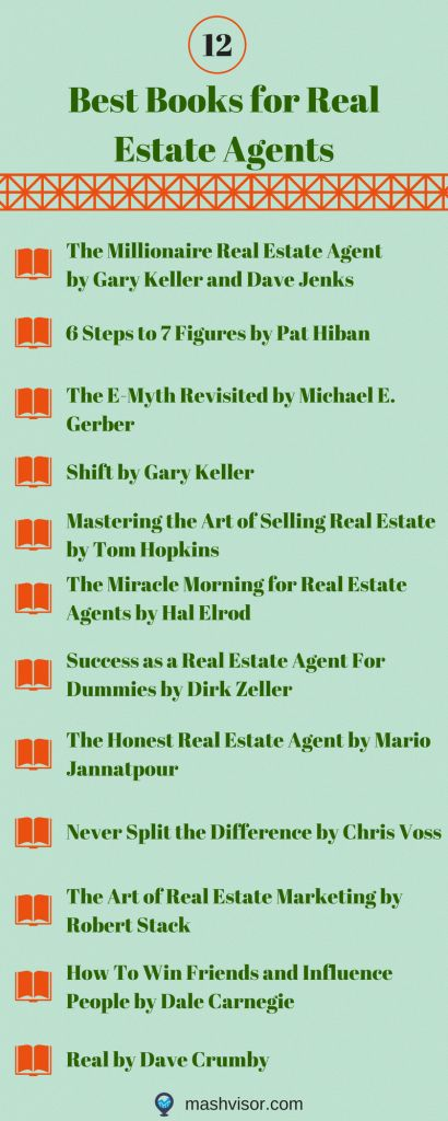 12 Best Books for Real Estate Agents #realestatetips