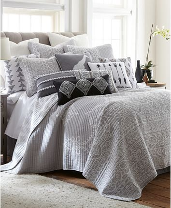 Levtex Home Carlisle Gray King Quilt Set Reviews Quilts Bedspreads Bed Bath Macy S In 2020 Luxury Bedding Sets Bed Linen Design King Quilt Sets