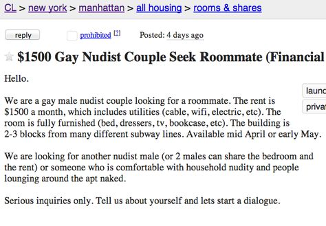 The 12 most insane roommate ads ever posted on Craigslist ...