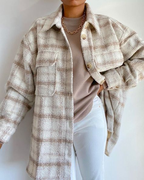 2021 Autumn Oversize Outwear Vintage Soft Tweed Shirts OUT0774