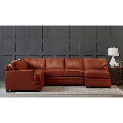 Wayfair Custom Upholstery Leather Symmetrical Sectional Sectional