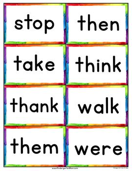 Dolch 220 Sight Word Flash Cards Chart Sight Word Flashcards Sight Words Kindergarten Printables Sight Words Kindergarten