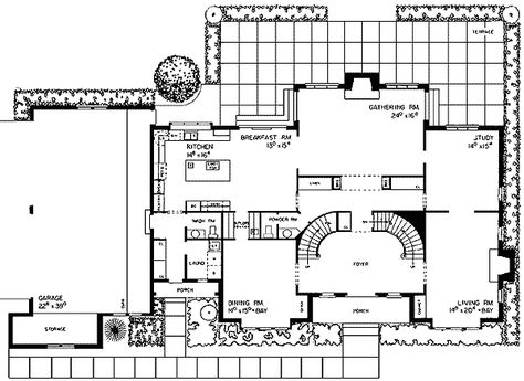 Plan 81120W: Tudor Manor With Grand Double Staircase | Staircases, Pantry  And Architectural Floor Plans