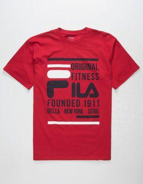 c5c0f044c0b FILA Original Fitness Mens T-Shirt Archivo, Negocio, Moda Hombre, Camisetas,