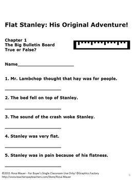 Flat Stanley His Original Adventure Book Study | Flat ...