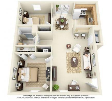 Apartment Floor Plan Ideas Bedrooms 21 New Ideas Apartment Floor Plans Small House Plans Apartment Layout