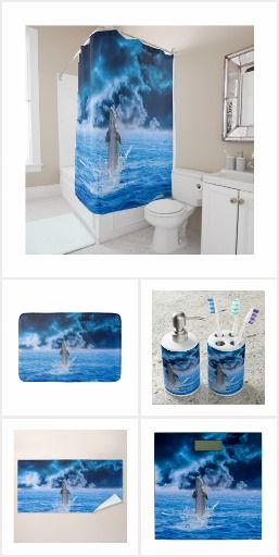 Dolphin Ocean Storm Bathroom Set Dolphin Ocean Storm Bathroom