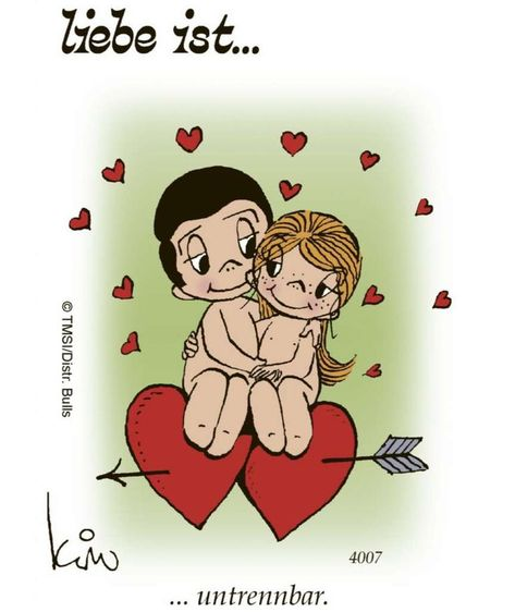 """Since 1974 BILD prints """"Love is ..."""". Now there's the cult cartoon too ...   - Liebe - #Bild #cartoon #cult #Liebe #love #Prints #There39s"""