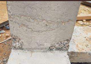 التعشيش في الخرسانة الأسباب والعلاج Concrete Repair Honeycomb