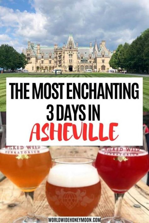 Check out all there is to see and do for 3 days in Asheville! From the Biltmore to breweries, enjoy the top things to do in Asheville, NC! Ashville North Carolina, Ashville Nc, Usa Travel Guide, Travel Usa, Budget Travel, Travel Tips, Canada Travel, Travel Ideas, Travel Inspiration