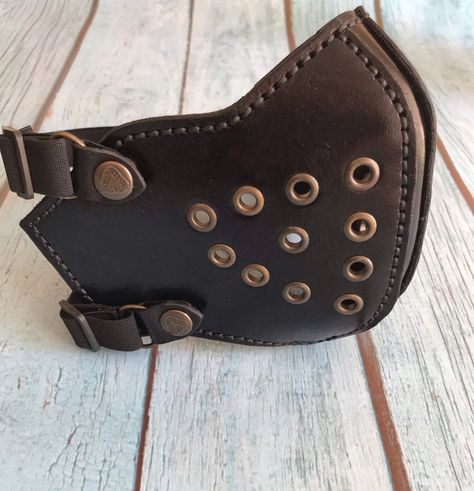 Excited to share this item from my shop: Leather Biker Mask, Leather Mask, Leather Half Face Mask, Cafe Racer Mask