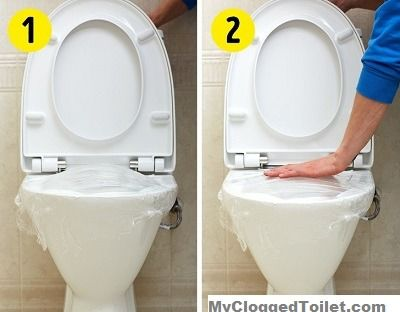 How To Unclog A Toilet With Saran Wrap Clogged Toilet Household