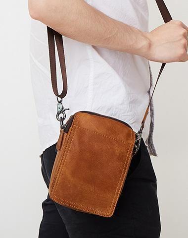 ab54c6265cf Leather Belt Pouch for Men Cell Phone Holster Waist Bag BELT BAG ...