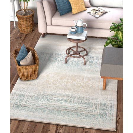 Well Woven Kensington Melange Blue Vintage Modern Oriental Medallion Distressed 7 10 Inch X 10 6 Inch Area Rug Size 7 10 Inch X 10 6 Inch In 2020 Area Rug Sizes Area Rugs Mint Blue