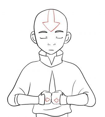 How To Draw Aang Avatar The Last Airbender Draw Central In 2020 Avatar Cartoon Avatar The Last Airbender Avatar Tattoo