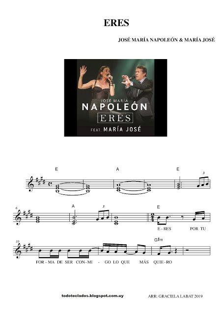 Eres José María Napoleón María José Letras Y Acordes Partituras Andy Gibb