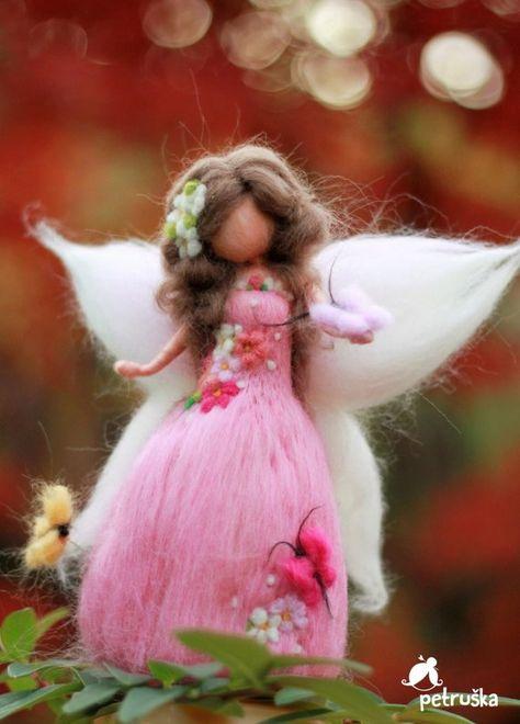 Flower Fairy doll Butterfly Fairy Fairy Figurine Doll | Etsy