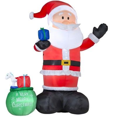 New 14 ft Giant Santa Lighted Christmas Airblown Inflatable Outdoor