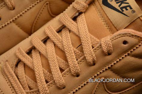 b47ba05dedb2 Nike Bruin QS Low Retro Casual Leather Skateboard Shoes 842956-108 Wheat  Yellow Barley Yellow Super Deals