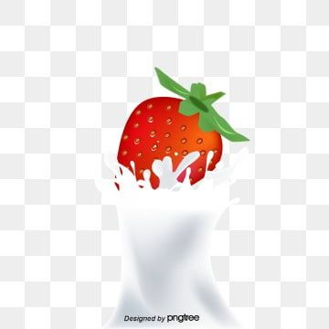 Strawberry Milk Fruit Strawberry V Milk Splash Png And Vector With Transparent Background For Free Download Milk Splash Strawberry Milk Strawberry