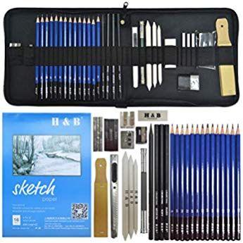 Lapices De Dibujo Artistico Lypumso Set De Lapices Profesional Carbon Grafito Sticks Lapices De Madera 33 Piezas Lapices De Dibujo Kit De Dibujo Lapices