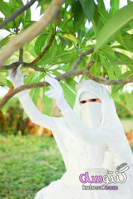 صور فساتين زفاف للمنقبات فساتين زفاف للمنتقبات اخر جمال عروسة منتقبة جميلة جدا فساتين زفاف منتقبات Kntosa Com 23 19 154 Muslimah Wedding Niqab Beautiful Hijab