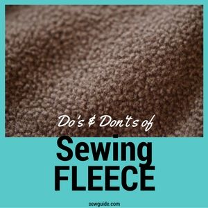 Fleece - Do's and Don't's for sewing and caring for the fabric - Sew Guide Fleece Hat Pattern, Hat Patterns To Sew, Dress Patterns, Sewing Patterns Free, Fleece Crafts, Fleece Projects, Sewing Hacks, Sewing Tutorials, Sewing Projects