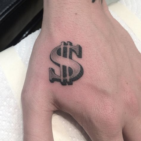 Single needle money sign by:Mike Jupp
