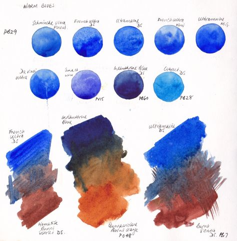 Jane Blundell: Designing my palette / warm blues