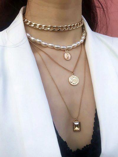 MMC Womens Necklaces Flower Pearl Emerald Bohemia Bridel Pendants