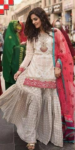 Maria B Lawn Suit, Ladies Designer Replica, Online Clothes Shopping.