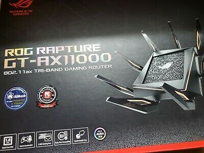 Ebay Link Ad Asus Rog Rapture Gt Ax11000 Ax11000 Tri Band 10 Gigabit Wifi Router Mint 659 With Images Wifi Router Router Asus