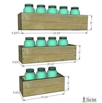 Easy Reclaimed Wood Box Centerpiece Mason Jar Diy Wood Box Centerpiece Wine Bottle Diy Crafts