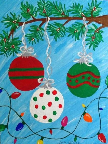 Painting Ideas On Canvas For Kids Christmas 17 Ideas Kids Christmas Painting Diy Christmas Paintings Christmas Paintings On Canvas