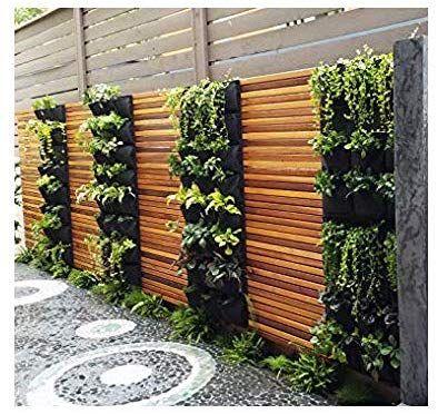 Vertical Garden Planters >> Amazon Com Delectable Garden 12 Pocket Hanging Vertical