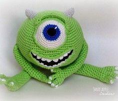 Mike Wazowski crochet amigurumi ▻ Free pattern ◅ | Ahookamigurumi | 202x236