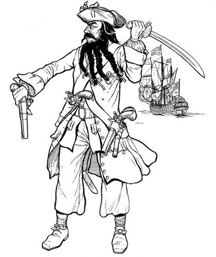 Roblox Pirate coloring page | Free Printable Coloring Pages | 524x440