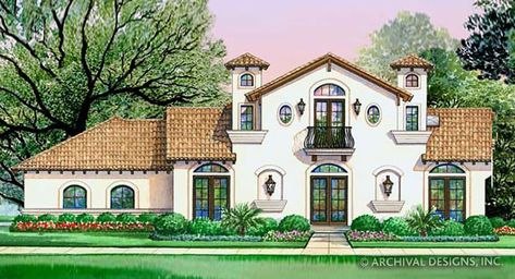 Villa Di Vino Place House Plan - Electronic CAD